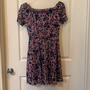 Lace floral off the shoulder dress